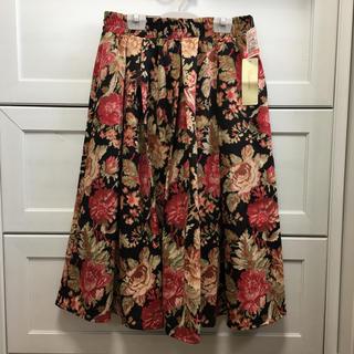 シマムラ(しまむら)の新品タグ付き しまむら🌸花柄 ゴブラン織り調 スカート(ひざ丈スカート)