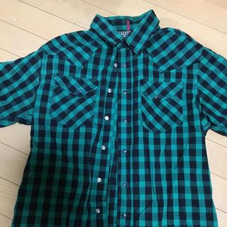 ニーキュウイチニーキュウゴーオム(291295=HOMME)の291295 チェックシャツ  トレンド色 グリーン✖️ブラック(シャツ)