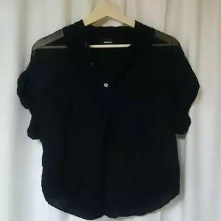 ジーヴィジーヴィ(G.V.G.V.)の専用出品 GVGV 半袖カットソー size 36 黒(カットソー(半袖/袖なし))