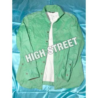 ハイストリート(HIGH STREET)のハイストリート シャツ ミントグリーン 日本製 ハイブランド(シャツ)