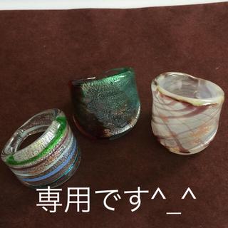 ガラス リング 3点セット♡(リング(指輪))