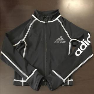 アディダス(adidas)の110㎝ adidas キッズ ベビー ラッシュガード ブラック(水着)