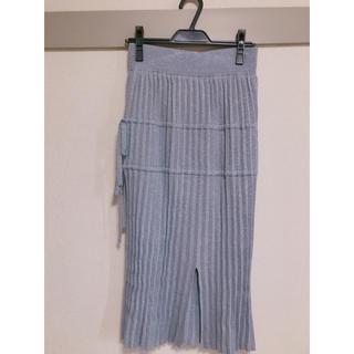 スナイデル(snidel)のsnidel 2017aw ラメプリーツスカート(ひざ丈スカート)