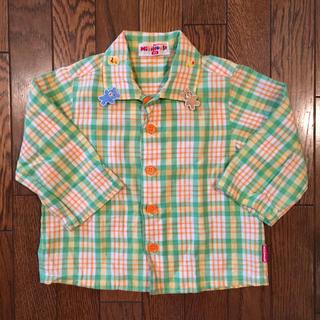 ミキハウス(mikihouse)のミキハウス チェックシャツ グリーン 80cm(シャツ/カットソー)