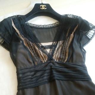 ビーシービージーマックスアズリア(BCBGMAXAZRIA)の♥BCBG  シルク100% ワンピース ドレス♥(ひざ丈ワンピース)