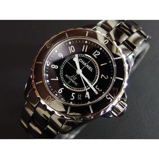 シャネル(CHANEL)のyura2018様専用 J12 新型バックル ブラック 38mm H0685 (腕時計(アナログ))