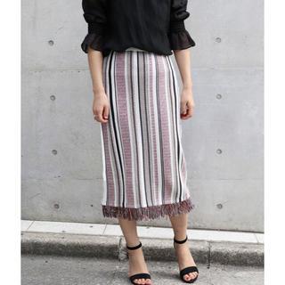 ノーブル(Noble)のストラップニットスカート(ロングスカート)