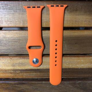 新品 42mm/L アップルウォッチ ベルト オレンジ(腕時計(デジタル))