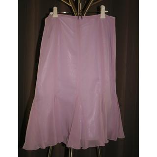 ヨンドシー(4℃)の4℃ ピンク フレアスカート 美品 送料込み(ひざ丈スカート)