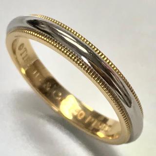 ティファニー(Tiffany & Co.)のティファニーK18/PT950☆クラシック ミルグレイン バンドリング☆17号(リング(指輪))