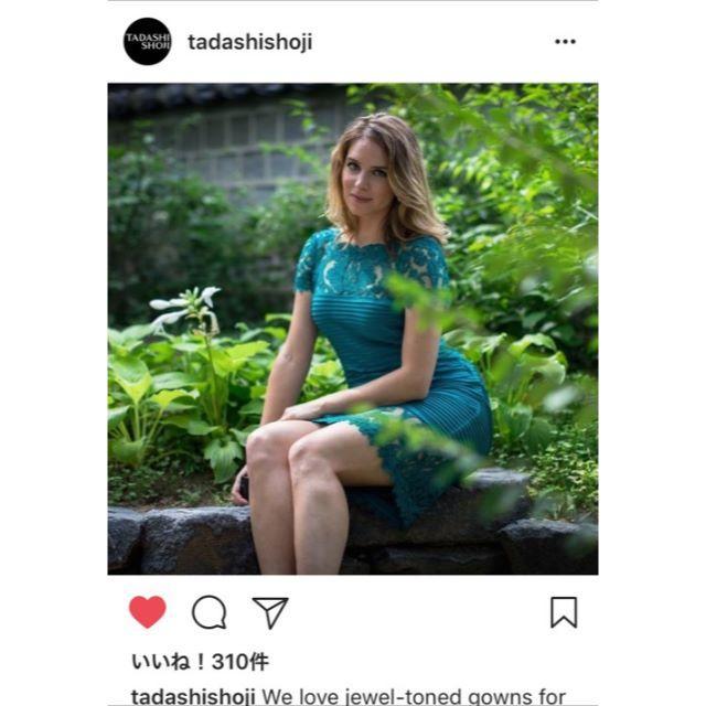 TADASHI SHOJI(タダシショウジ)の【新品タグ付】Tadashi shoji 2018SS 公式インスタ掲載PS レディースのワンピース(ひざ丈ワンピース)の商品写真