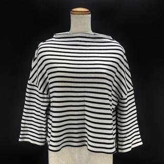 エンフォルド(ENFOLD)のエンフォルド ボーダー ワイドトップス カットソー38 M mc5011 (Tシャツ(長袖/七分))