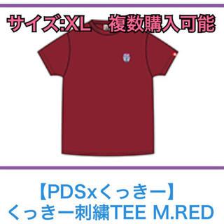 パンクドランカーズ(PUNK DRUNKERS)の XL くっきーランド 刺繍Tシャツ えんじ 赤 (お笑い芸人)
