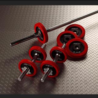 バーベル ダンベル30kgセット ラバーリング