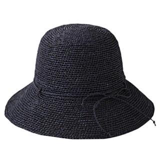 ムジルシリョウヒン(MUJI (無印良品))の未使用 無印良品 たためるキャペリン ネイビー(麦わら帽子/ストローハット)
