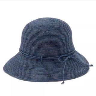 ムジルシリョウヒン(MUJI (無印良品))の未使用 無印良品 たためるキャペリン ブルー(麦わら帽子/ストローハット)