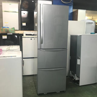 トウシバ(東芝)の⭐️TOSHIBA⭐️冷凍冷蔵庫 375L 自動製氷 美品 大阪市内配達無料(冷蔵庫)