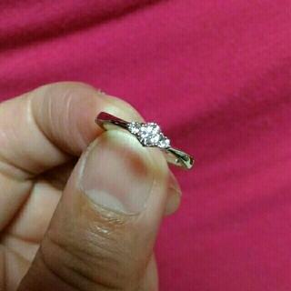 ヨンドシー(4℃)のチビマル様専用4℃プラチナダイヤリング(リング(指輪))