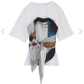 アメリヴィンテージ(Ameri VINTAGE)のameri vintage  DRAWING UNEVEN TEE スカーフT(Tシャツ(半袖/袖なし))