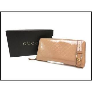 a186aa740103 グッチ(Gucci)のGUCCI グッチ マイクロGG エナメル ラウンド 長財布 309753(財布