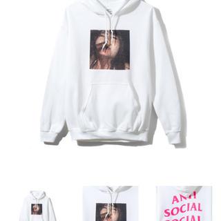 anti social social club jav white hood(パーカー)
