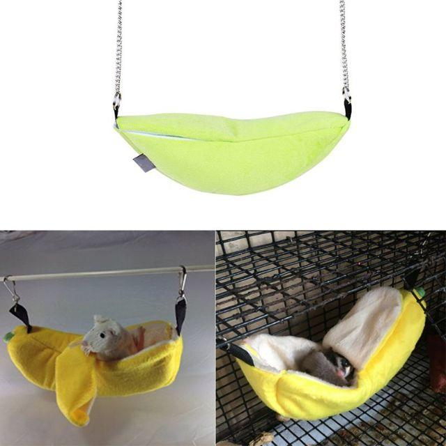 ハムスター モルモット モモンガ チンチラ 小動物 バナナベット イエロー♪ その他のペット用品(小動物)の商品写真