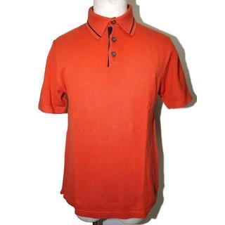 アイグナー(AIGNER)の美品 AIGNER アイグナー 半袖ポロシャツ オレンジ(ポロシャツ)