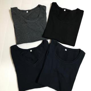 ムジルシリョウヒン(MUJI (無印良品))のりんご様専用☆無印良品   汗じみしにくいTシャツ 4枚(Tシャツ(半袖/袖なし))