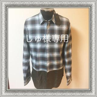 ヌメロヴェントゥーノ(N°21)のN°21 ヌメロヴェントゥーノ メンズ シャツ カーキ×ブラウン 46 未使用(シャツ)