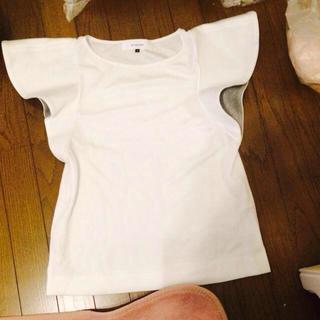ルシェルブルー(LE CIEL BLEU)のルシェルブルー★袖フリルTシャツ(Tシャツ(半袖/袖なし))