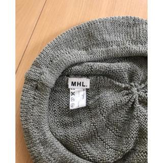 マーガレットハウエル(MARGARET HOWELL)のMHLのコットンベレー帽 グレー(ハンチング/ベレー帽)