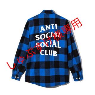 アンチ(ANTI)のAnti Social Social Club Blue Flannel L(シャツ)
