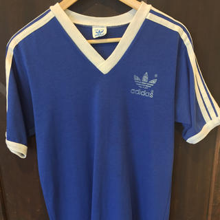アディダス(adidas)のアディダス adidas Tシャツ トレフォイル 80s  Vネック(Tシャツ/カットソー(半袖/袖なし))