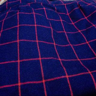 レイカズン(RayCassin)のネイビーチェック タイトスカート(ひざ丈スカート)