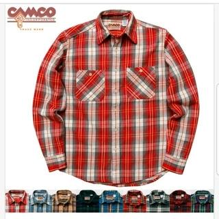 最終値下げ!カムコ ネルシャツ 赤 レッド ブラウン