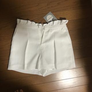 リランドチュール(Rirandture)の新品未使用 タグ付き リランドチュール  白色 キュロット ショートパンツ(ショートパンツ)