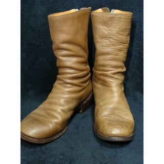 システレ(SISTERE)のSISTEREシステレ◆バックジップジッパー皺しわ加工レザーブーツ靴グイディ(ブーツ)
