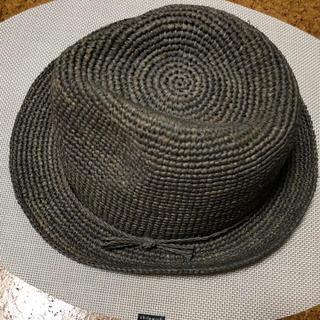 ムジルシリョウヒン(MUJI (無印良品))の無印 ラフィア 中折れハット グレー(麦わら帽子/ストローハット)