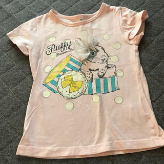 シマムラ(しまむら)の120 しまむら 美品 うさぎ Tシャツ(Tシャツ/カットソー)