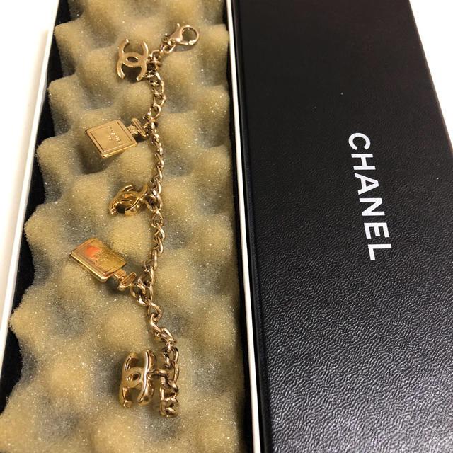 e8c3ef782706 CHANEL(シャネル)のシャネルCHANEL ブレスレット値下げ!本物正規品 香水チャーム ゴールド