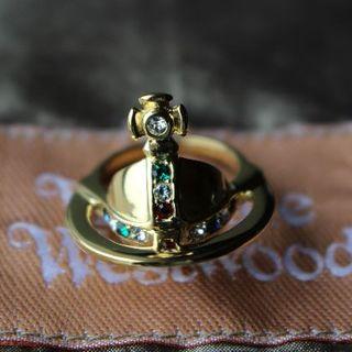 ヴィヴィアンウエストウッド(Vivienne Westwood)の新品 ヴィヴィアン 復刻ソリッドオーブリング ゴールド サイズ S(リング(指輪))