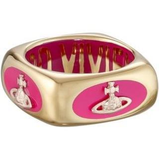ヴィヴィアンウエストウッド(Vivienne Westwood)のヴィヴィアンウエストウッド エナメルリング ピンク×ゴールド(リング(指輪))