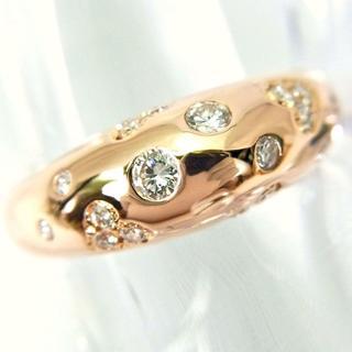 750ピンクゴールド ダイヤモンド リング 10号[f158-9](リング(指輪))