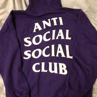 アンチ(ANTI)のAssc purple hoodie M(パーカー)
