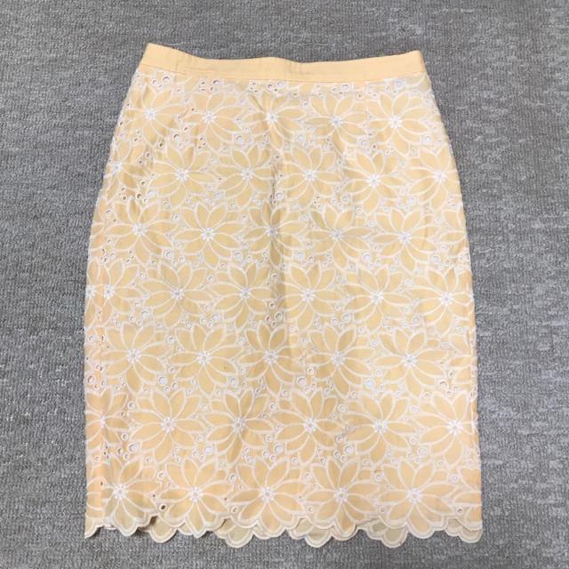 Demi-Luxe BEAMS(デミルクスビームス)のコットンレーススカート レディースのスカート(ひざ丈スカート)の商品写真