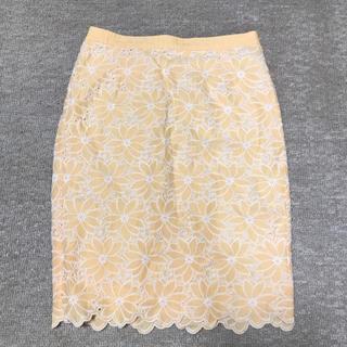 デミルクスビームス(Demi-Luxe BEAMS)のコットンレーススカート(ひざ丈スカート)