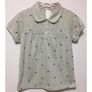 シマムラ(しまむら)のしまむら  半袖ポロシャツ ドット 水玉 グレー M(ポロシャツ)