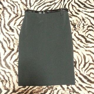 プラダ(PRADA)のタイトスカート黒(ひざ丈スカート)