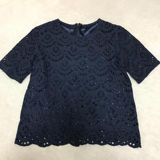 ジーユー(GU)のGUコットンレーストップス(シャツ/ブラウス(半袖/袖なし))