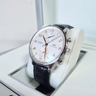 インターナショナルウォッチカンパニー(IWC)の【正規品】ポルトギーゼ クロノグラフIW371445金針フォールディングバックル(腕時計(アナログ))